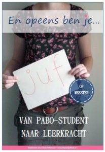 Ik heb een nieuw boek geschreven voor de PABO-student en de beginnende leerkracht. Het is een ebook met ruim 70 pagina's aan informatie, tips en ideeen. Lekker veel dingen waar je in de praktijk mee aan de slag kan gaan en zonder saaie theorie!