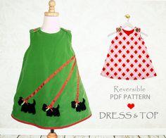 Filles dress pattern PDF patron de couture par MyChildhoodTreasures