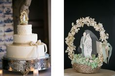 This vintage cake-topper is amazing! A gorgeous couple with killer style. Thanks, Lisa Rigby Photography.