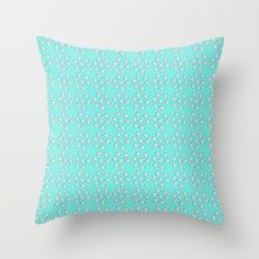 Buy it online. #society6 #buyart #pillow #cushions #room decoration. #decorative gift. #pattern design on #blue #hamtz