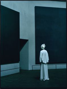 Tilda Swinton: The Surreal World - n the Rothko Chapel, Swinton stands 