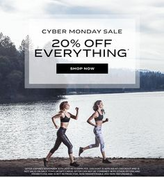 Cyber Monday Sale - 20% Off Everything. Shop Now