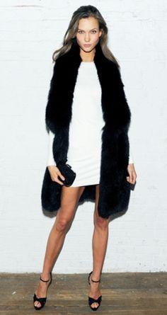 style in B & W- Karlie Kloss