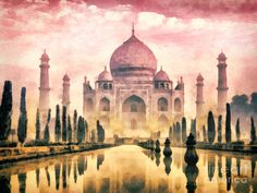 Taj Mahal Canvas Print by Mo T. All canvas prints are professionally printed, assembled, and shipped within 3 - 4 business days and delivered ready-to-hang on your wall. Choose from multiple print sizes, border colors, and canvas materials. Taj Mahal Image, Canvas Art, Canvas Prints, Amazing Buildings, India Travel, Art Pages, Love Art, Framed Art Prints, Places To Travel