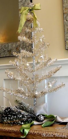 Silver Christmas Tabletop Tree
