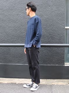 スウェットセットインスリーブ グラスポケット付きC/N LS【MADE IN JAPAN】『日本製』/ Upscape Audience - 【 Audience 】
