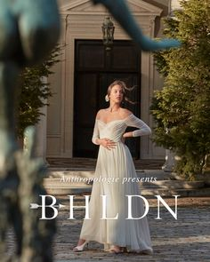 BHLDN wedding dresses in every shape and silhouette Bhldn Wedding Dress, Blue Wedding Dresses, Elegant Wedding Dress, Bridal Dresses, Anthropologie Wedding, Wedding Looks, Marie, Wedding Hairstyles, Silhouette