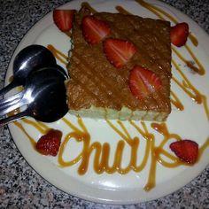 TRES LECHES CAKE   Chuy's Restaurant Copycat Recipe     Cake:   1 1/2 cups all purpose flour   1 tablespoon cornstarch   1 teaspoon bak...