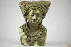 Butter Jade Bust Sculpture - TM Gidi (Zimbabwe) Jade Stone, Wooden Art, Zimbabwe, Arts And Crafts, Butter, Sculpture, Statue, Ebay, Wood Art