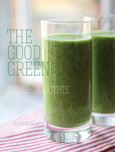 Pure Ella | The Good Green Super-Smoothie #smoothie #nutrition #health