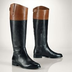 For A - $73 Spot the Real: Ralph Lauren Two Tone Riding Boots - The Budget Babe