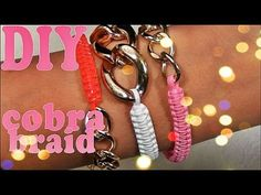 DIY ♥ Cobra Braid and Curb Chain Bracelet (HelloBerry)