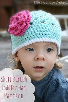 Free Crochet Pattern {Shell Stitch Toddler Hat}