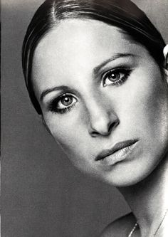 ♀ Black and white woman portrait face Barbara Streisand