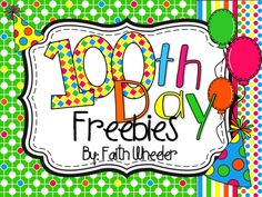 100th Day Freebies - True/False Subtraction, ABC Order, and Parts of Speech