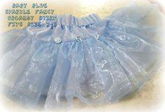 Tutu Baby Blue Skirt by janeylaughs on Etsy, $23.00