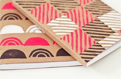 DIY print a notebook, via The Lovely Drawer