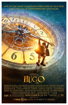 A great poster for kids! Hugo is the 2011 historical adventure movie directed by… Los Oscar, Hugo Movie, Chloe Grace Moretz, Howard Shore, Train Station, Beautiful Film, Beautiful Images, Silent Night, Silent Film