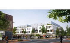 Ameller, Dubois et Associés - The projects - Les Clayes-sous-Bois - Market hall+Residential
