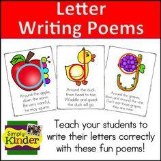 Alphabet formation poems simply kinder poem and kindergarten spiritdancerdesigns Image collections