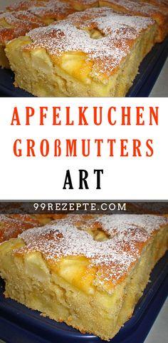 Apfelkuchen Großmutters Art - Zutaten 250 g Margarine 250 g Zucker 5 Ei(er) 1 Pck. Vanillinzucker 350 g Mehl 1 Pck. Easy Smoothie Recipes, Easy Smoothies, Cupcake Recipes, Dessert Recipes, Pie Recipes, Pumpkin Spice Cupcakes, Cinnamon Cream Cheeses, Coconut Recipes, Fall Desserts