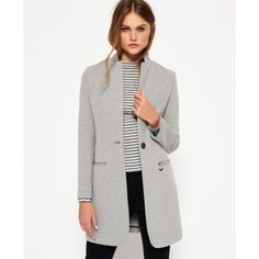 Superdry - Blazer long Scuba - Vestes et manteaux pour Femme