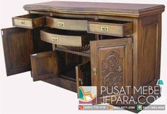 bufet-minimalis-jati-kencana-lacquered Tv Cabinets, Desk, Storage, Furniture, Home Decor, Sofa, Products, Purse Storage, Desktop