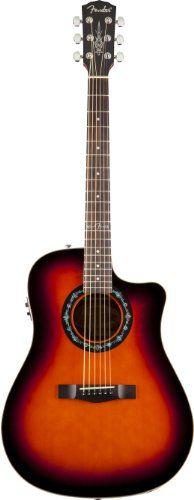 Fender Hot Rod Design T-Bucket 100CE Acoustic-Electric Guitar, 3-Color Sunburst