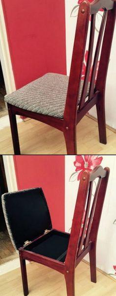 5 DIY Hidden Chair Compartment