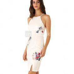 Women's Vintage Sexy Bodycon Print Plus Sizes Micro  Elastic Sleeveless Knee-length Dress (Cotton/Linen) - USD $12.99