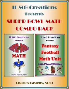"""Although the Super Bowl is just around the corner, there is still of plenty of math to be done during the playoffs!  In the first product, """"Super Bowl Math,"""" students will use a variety of different Super Bowl statistics to practice and reinforce math skills, through word problems, including addition, subtraction, multiplication, division, graphing, and more!"""