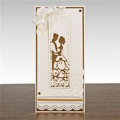 Tonic Silhouette Scenes - First Dance from Create and Craft USA Anniversary Crafts, Wedding Anniversary Cards, Wedding Cards, Die Cut Cards, Love Cards, Tonic Cards, Tattered Lace Cards, Studio Cards, Engagement Cards