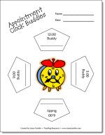Appointment Clock Buddies freebie and more ideas for creating a caring classroom