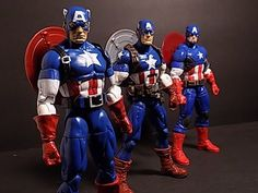 MARVEL LEGENDS CAPTAIN AMERICA (RED SKULL BAF WAVE) ACTION FIGURE  REVIEW/COMPARISON - YouTube