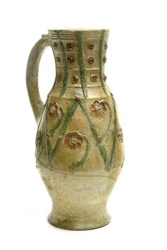 Baluster jug Production Date: Medieval; Antique Pottery, Ceramic Pottery, Ceramic Art, London Free Museums, Medieval World, Medieval Fashion, Antique China, 14th Century, Middle Ages