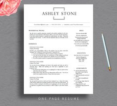 Resume Template  Professional And Creative Resume Template With