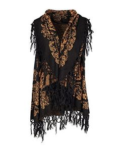 Coco  Carmen Womens Downton Sweater Vest BlackCognac >>> Details can be found by clicking on the image.