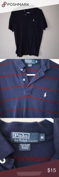 Navy and Maroon Striped Polo by Ralph Lauren Navy and Maroon Striped Polo by Ralph Lauren Polo by Ralph Lauren Shirts Polos