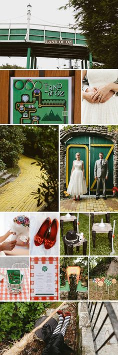 Anna and Brandon chose to marry at an actual Wizard of Oz theme park, which opens for special events. They really went all out with their amazing wedding theme and chose the perfect setting for it - why not browse our edit of unique wedding venues if you like their style? Photography by Brett & Jessica