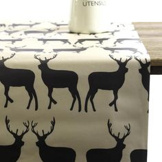 Oil Cloth Tablecloth - Deer