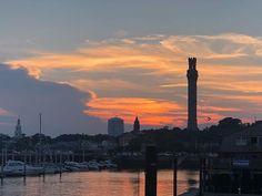 Pretty Provincetown Sunset #provincetown #ptown #sunset #massachusetts #capecod #pilgrimtower