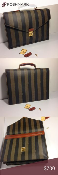 c3be3ed9e296 Selling this Fendi Pequin Vintage Briefcase Business Bag in my Poshmark  closet! My username is  deepeevintage.