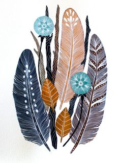 feathers painted