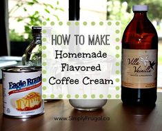 Fancy up your coffee or hot chocolate on a budget by creating some homemade flavored coffee cream!