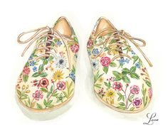 Floral Illustrated Summer Shoes | Lana's Shop