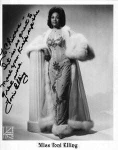 Toni Elling (1960s) Vintage Black Burlesque
