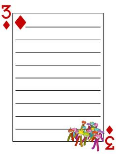 Journal Card - Mome Raths - Alice in Wonderland - Playing Card - lines - 3x4 photo dis_583_MomeRaths_playingcard_lines_3x4.jpg