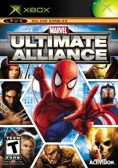 Marvel Ultimate Alliance PAL for Sony Playstation from Activision (SLES Playstation 2, Marvel Ultimate Alliance, Ultimate Marvel, Wii Games, Xbox 360 Games, Games Box, Comic Games, Nintendo 3ds, Marvel Characters
