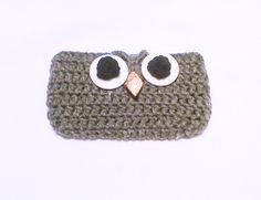 Owl cell phone case, Crochet owl, cellphone sweater, Crochet phone cover, phone sleeve, Mobile accessory, Mobile gadget, iphone touch sleeve by HandmadeTrend on Etsy