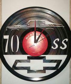 Custom order: 1970 Chevelle SS vinyl album wall clock